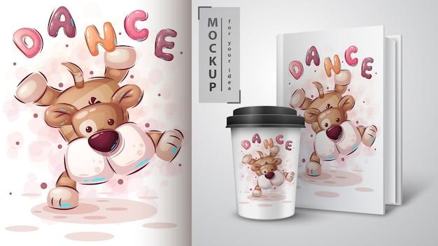 Dance dog - poster and merchandising
