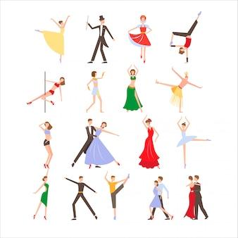 Dance festival, different dance styles set
