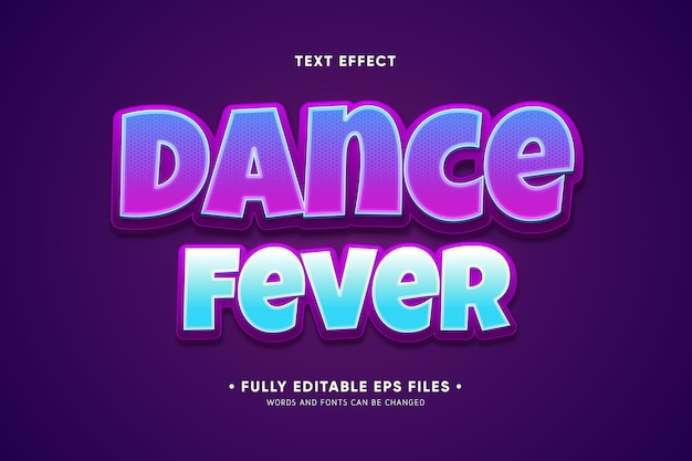 Dance fever text effect