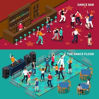 Бар dance floor 2 изометрические баннеры