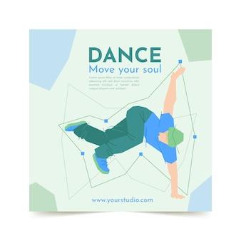 Modello di stampa per lezioni di ballo Vettore gratuito
