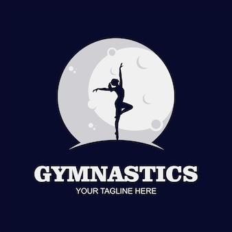 Dance logo, dancing in moon, girl.