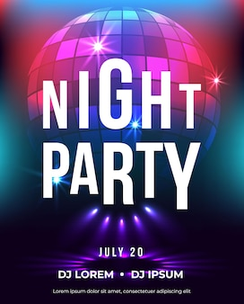Dance party poster vector background template music event flyer or banner abstract