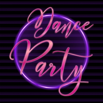 Dance party retro text