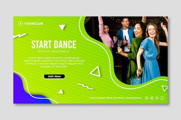Dance party template banner