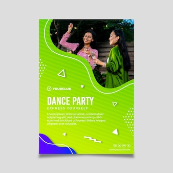 Dance party template flyer