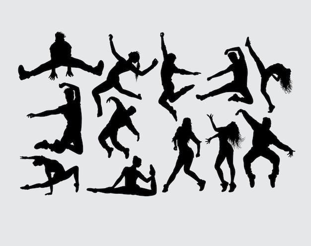Dance showing male and female gesture silhouette