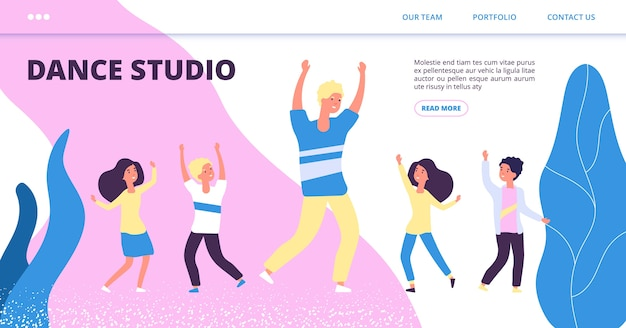 ダンススタジオのランディングページテンプレート