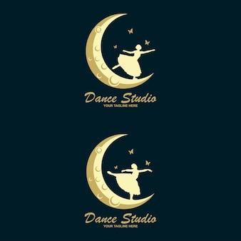 Дизайн логотипа танцевальной студии. векторный логотип формы тела. концепция значок танец.