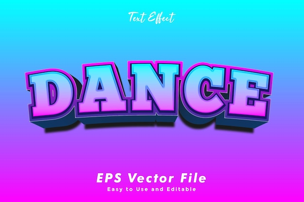 Dance text effect editable and easy to use typography effect