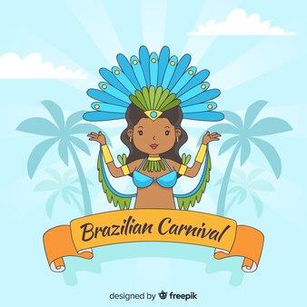 Dancer brazilian carnival background