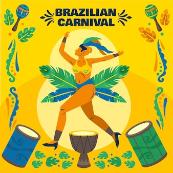 Illustrazione di ballerino carnevale brasiliano