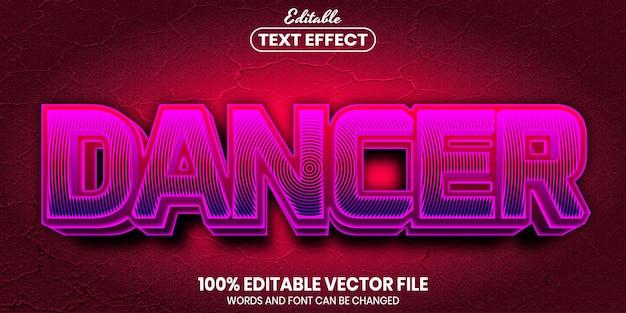 Dancer text, font style editable text effect