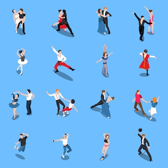 Dances professional performers isometric people