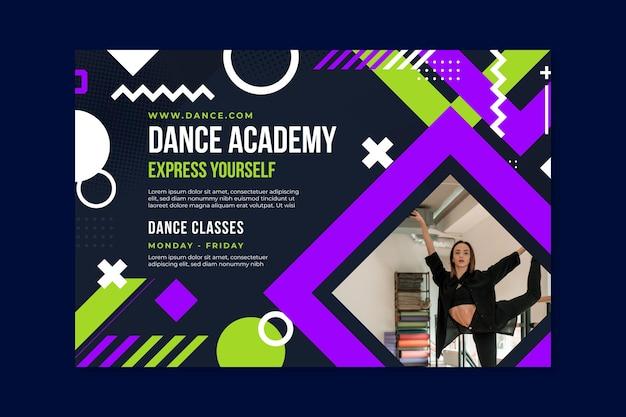 Dancing academy banner template