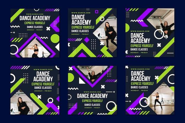 ダンスアカデミーのinstagramの投稿テンプレート
