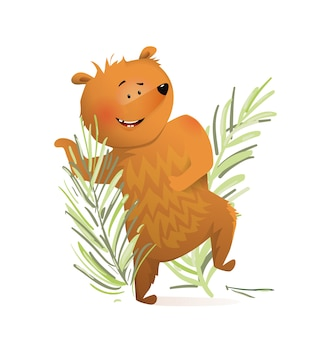 어린이 그림을위한 춤추는 곰