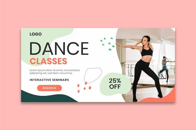 Modello di banner di lezioni di ballo