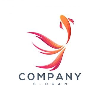 Дизайн логотипов танцующих рыб