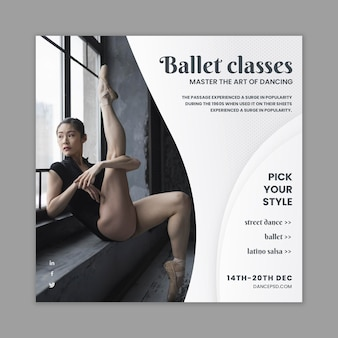 Dancing flyer template with photo