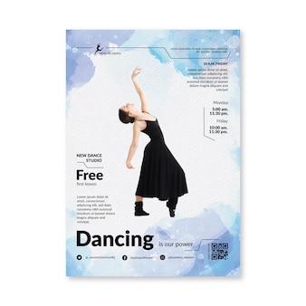 Танцы флаера шаблон