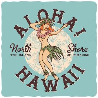 Dancing hawaiian girl