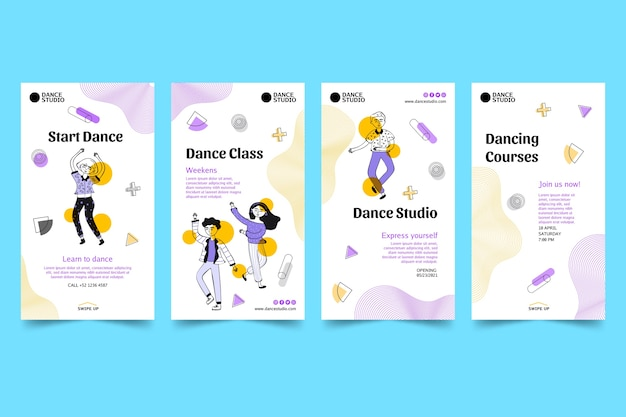 Dancing instagram stories collection