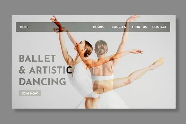 Modello di pagina di destinazione danzante