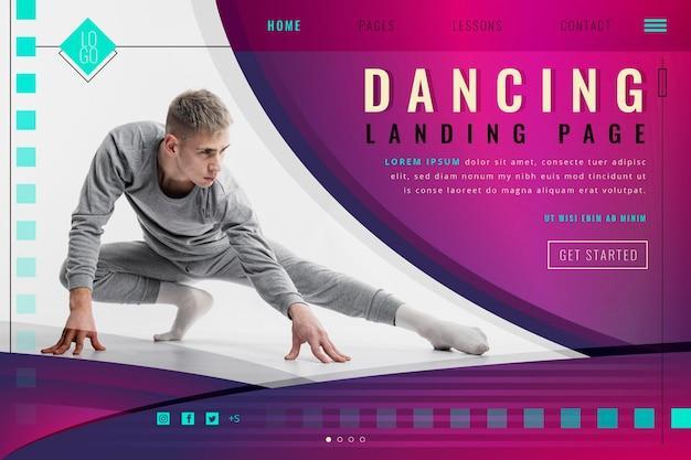 Dancing landing page