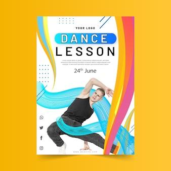 Modello di poster per lezione di ballo
