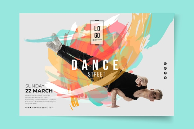 Dancing lessons banner template