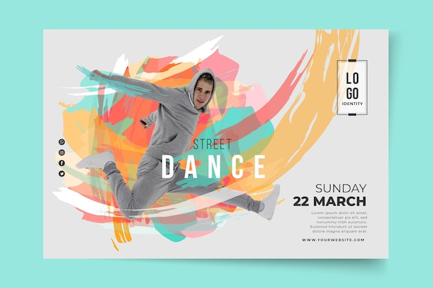 Dancing lessons template banner