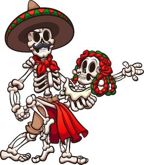 Танцующие мексиканские скелеты