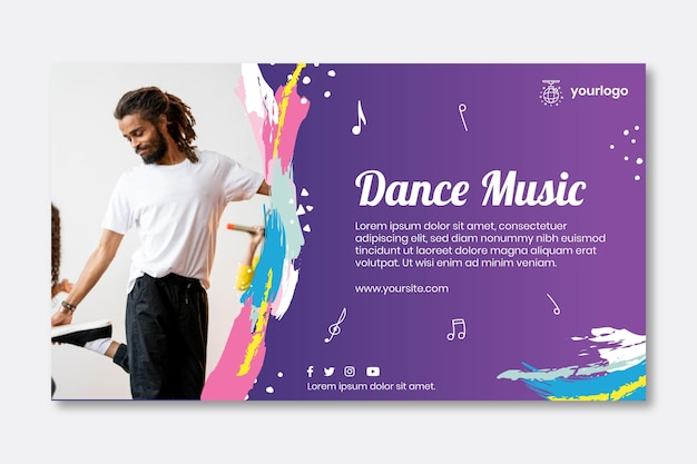 Dancing party banner template