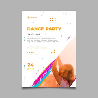 Dancing party poster template