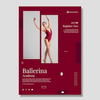Modello di poster di ballo