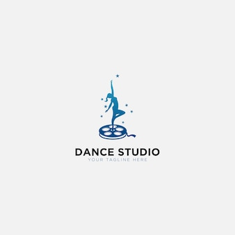 Dancing studio training logo