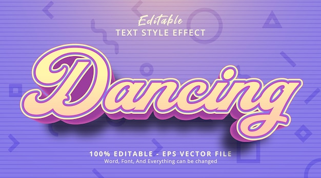 Dancing text on headline event style, editable text effect