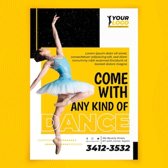 Dancing vertical flyer template style
