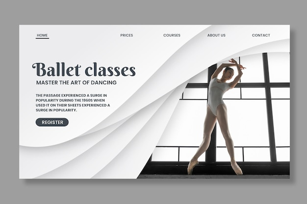 Dancing web template with photo