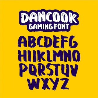 Dancook gaming font template