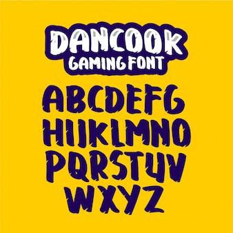 Шаблон шрифта игры dancook