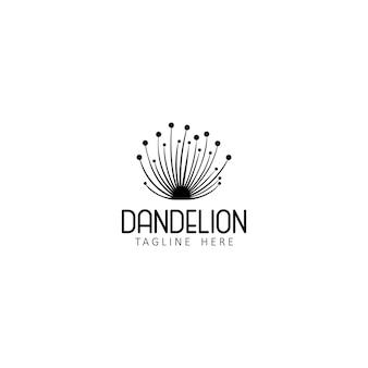 Dandelion flower logo icon design template  vector illustration