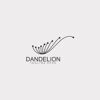 Dandelion flower logo simple creative template