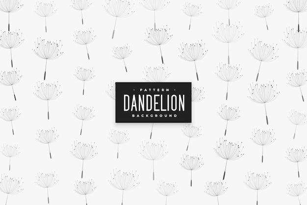 Дизайн шаблона семян одуванчика