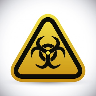 Danger advert design.
