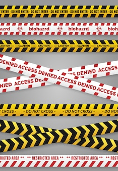 Danger construction tapes