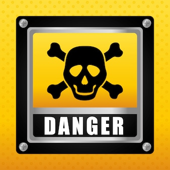 Danger design. illuistration