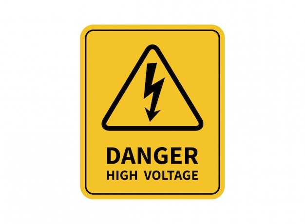 Danger high voltage sign. danger sign.