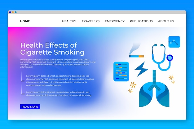 喫煙の危険性ランディングページテンプレート